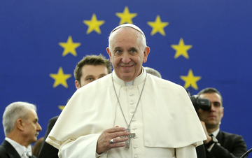 Pope Francis addresses the European Parliament in Strasbourg